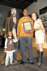 K-Dub Williams (2008 winner), Naru Kwina (2009 winner), and OneCalifornia Foundation's Andrea Walker.