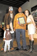 K-Dub Williams (2008 winner), Naru Kwina (2009 winner), and OneCalifornia Foundation's Andrea Walker.