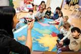 HALI MCGRATH - Kai-Yao To teaches her students at Berkeley's Shu Ren International School.