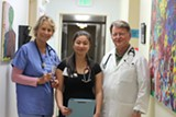 MOMO CHANG - Kate Ratcliff and Amy Chao volunteer as nurses at RotaCare Richmond Free Medical Clinic at Brighter Beginnings. Dr. Pate Thomson, right, is the medical director in charge of adult care and a retired cardiologist.