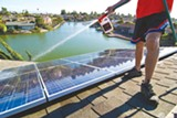 MAYA SUGARMAN - Kevin Good finishes up an Alameda solar installation.