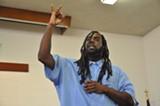 "Kimani Randall performs his piece, ""The Testimony."""