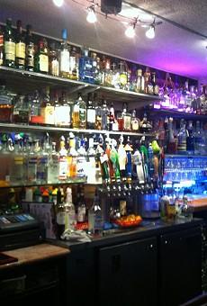 Kip's has an impressive liquor selection.