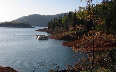 Lake Shasta is at 83 percent of normal capacity.
