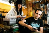 STEPHEN LOEWINSOHN - Lizzie Cuevas and Matt Payne of The Glowing Stars.