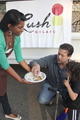 IRA SERKES - Lush Gelato tried the food truck experience.