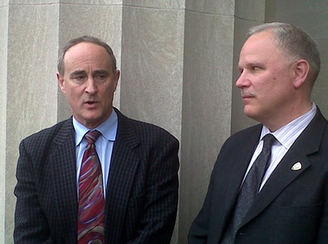 Magnus (right) with his attorney Geoff Spellberg