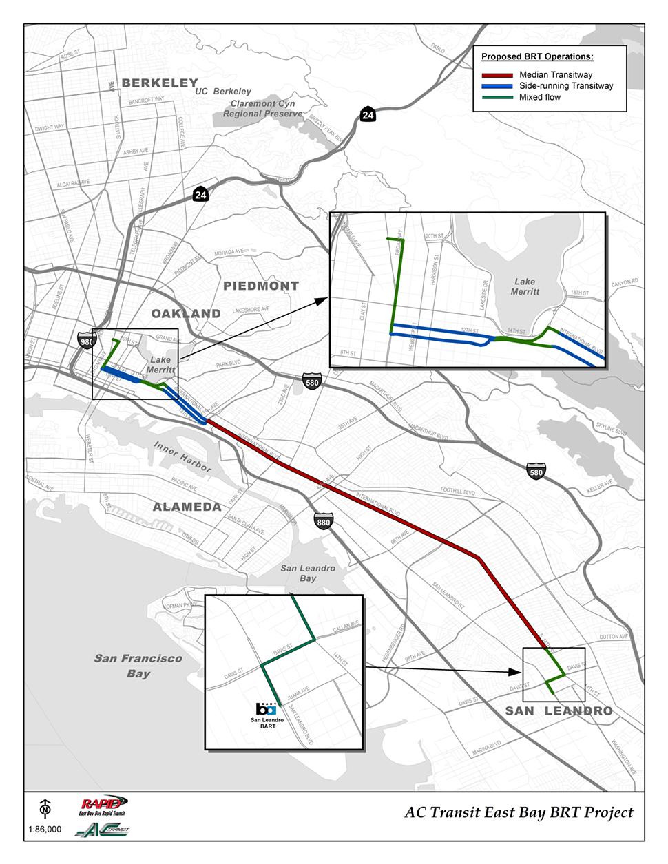 Map of proposed BRT operations.