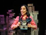 PATTI MEYER - Marga Gomez as Polaroid Phillie in her latest solo show.