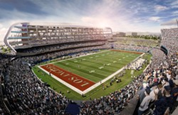 The proposed stadium for the Raiders and Chargers in Carson. - MANICA ARCHITECTURE