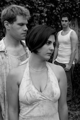 CHESHIRE ISAACS - Mayra Gaeta (center) is compelling as frisky Laura.