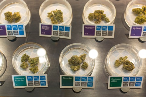 Medical cannabis at a San Francisco dispensary. Historic regulations on California medical pot inched forward in the Assembly Tuesday. - LN FILE PHOTO