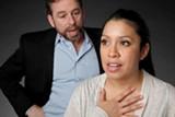 Michael Storm and Josie Alvarez in Oleanna.