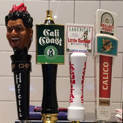 Beer taps at The Octopus (via Facebook).
