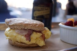 Flour and Co breakfast sandwich (via Facebook).