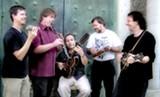 Mike Marshall (far right) and Choro Famoso.