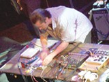 MIKE SHERMAN - Mike Patton tweaks the knobs.