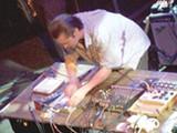 MIKE SHERMAN - Mike Patton tweaks the knobs.