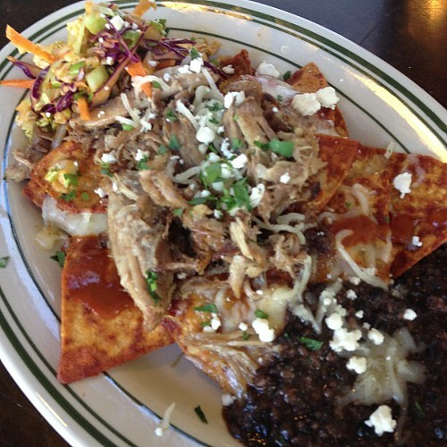 MJs favorite chilaquiles (via Facebook).