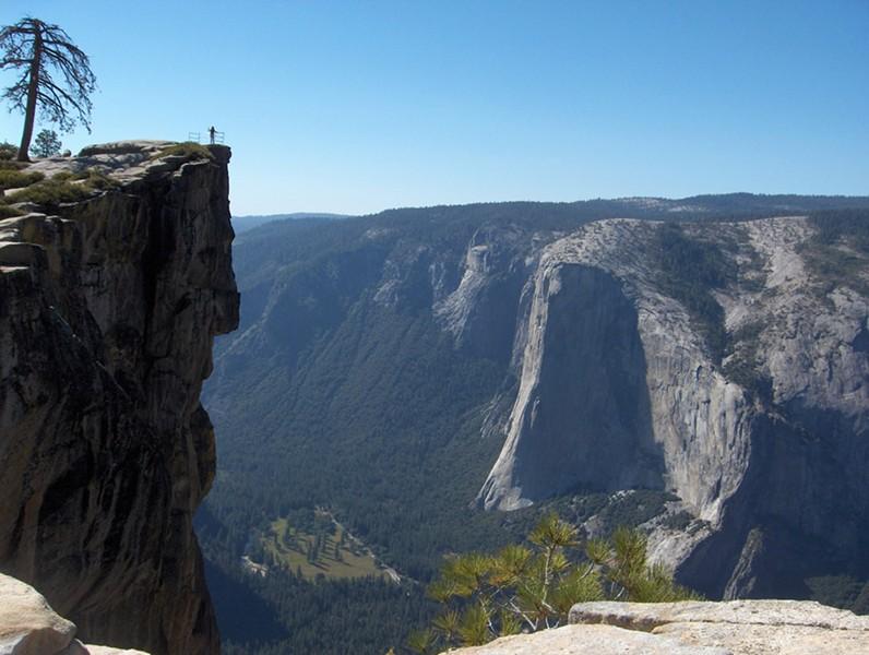 Taft Point in Yosemite.