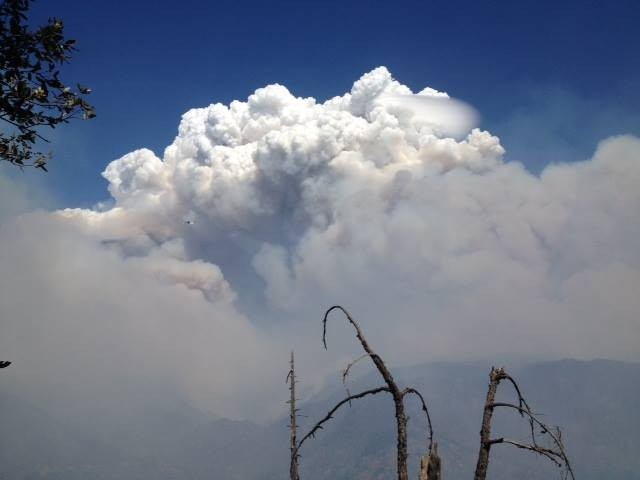 Plume from the King Fire. - USFS