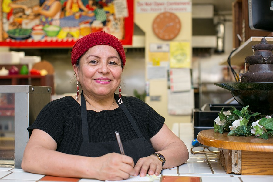 Muñoz is a native of Ahuachapán, El Salvador, but when she first moved to the Bay Area in the mid-1980s, she bluffed her way into a job rolling burritos. - BERT JOHNSON