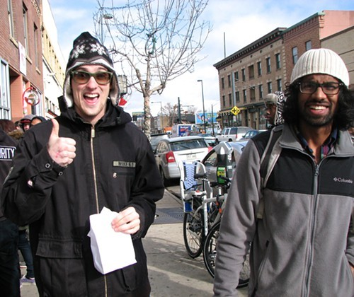 Ninety days after adults over 21 could begin buying cannabis over the counter, taxes were up and crime was down. Above, satisfied customers in Denver January 1, 2014