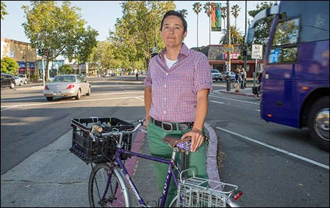 Renee Rivera of Bike East Bay. - BERT JOHNSON / FILE PHOTO