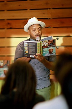 Vegan chef Bryant Terry reading at last year's Oakland Veg Week. - OAKLAND VEG WEEK