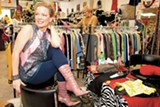 SONYA REVELL - Owner Dianna Rowley stocks a hand-picked selection of vintage clothes at Nonconformist Eco-Boutique.