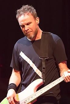 Pearl Jam bassist Jeff Ament at Oracle Arena, November 26, 2013.