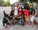 AGSTAAR - Perla Nolasco (center, in sunglasses) and her Pussy Monster crew.