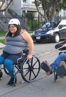 Priscilla Lopez and Tristin Campbell: wheelchair appreciators.