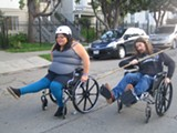 Priscilla Lopez and Tristin Campbell: wheelchair appreciators.