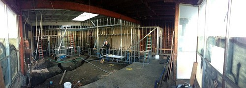 Progress on the interior as of about a month ago (via Facebook).