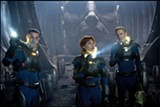 Prometheus is smashingly entertaining but not as good as the original Alien.