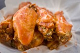 CHRIS DUFFEY - Red Buffalo's hot wings are intense.