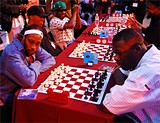 ERIC K. ARNOLD - RZA and GZA face each other on the battlefield.