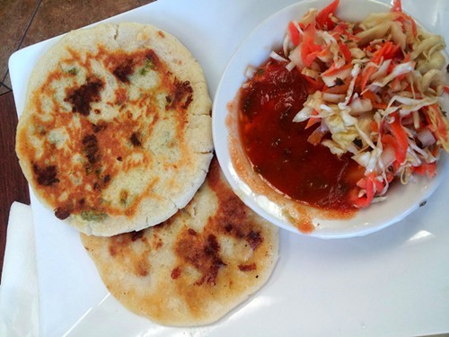 Salvadoran pupusas at Oralias Kitchen