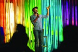 BERT JOHNSON - Sampson McCormick warms up the crowd at Funny Fun, a weekly queer comedy night at Club 21.