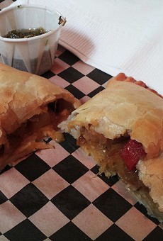 Sandes' vegetarian empanada is comforting.