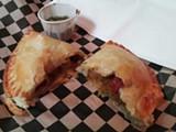 LUKE TSAI - Sandes' vegetarian empanada is comforting.