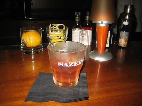 Sazerac cocktail at the Sazerac bar, Roosevelt Hotel, New Orleans.