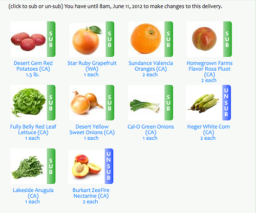 Screen shot from the Golden Gate Organics website