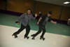 Seasoned skaters blend a wide repertoire of moves.