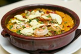 BERT JOHNSON - Shakewell's moist and flavorful take on Spanish paella, a bomba.