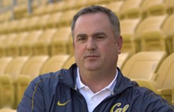 UC Berkeley head football coach Sonny Dykes, one of the university's highest paid employees, earned $2.37 million in 2013. - SCREENSHOT FROM HTTPS://WWW.YOUTUBE.COM/WATCH?V=RZMXW_UWQNA
