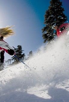 Skiers at Squaw Valley, which added grooming capabilities.