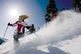 JEFF ENGERBRETSON - Skiers at Squaw Valley, which added grooming capabilities.
