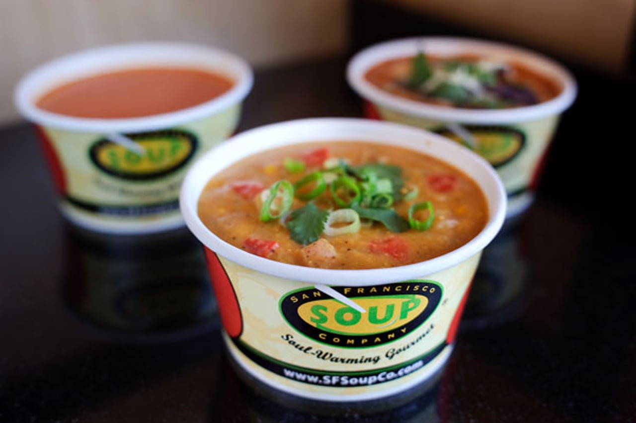 Fast food places that have soup food ideas for Cuisine 2 go